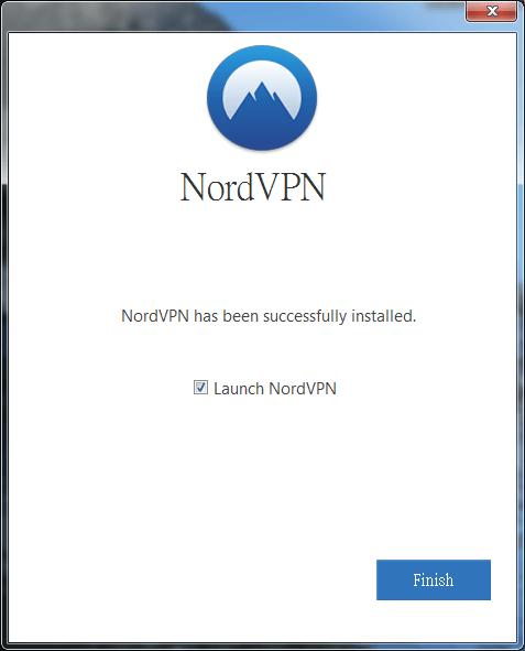 將Launch NordVPN打勾後點擊完成