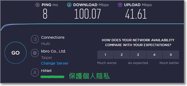 還沒有連接VPN時的正常速度