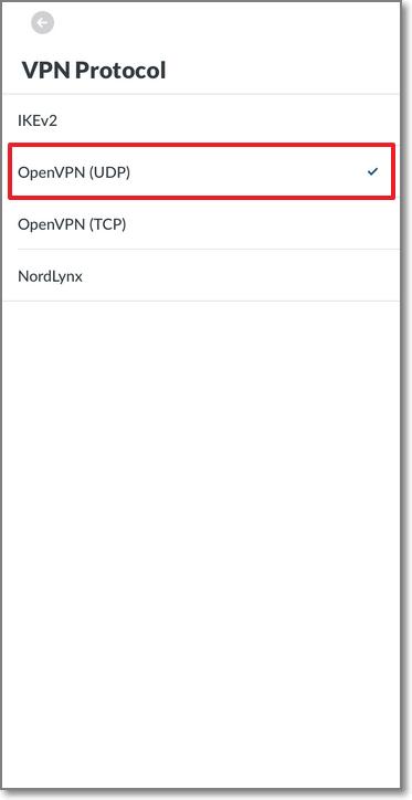 調整為 OpenVPN (UDP)