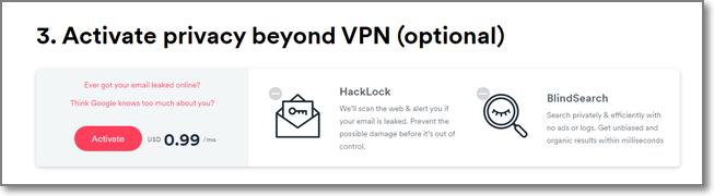 Surfshark VPN加購功能